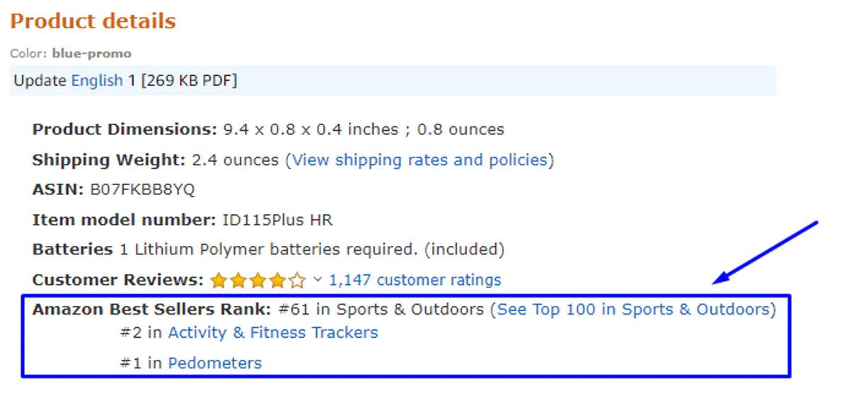 amazon best sellers rank
